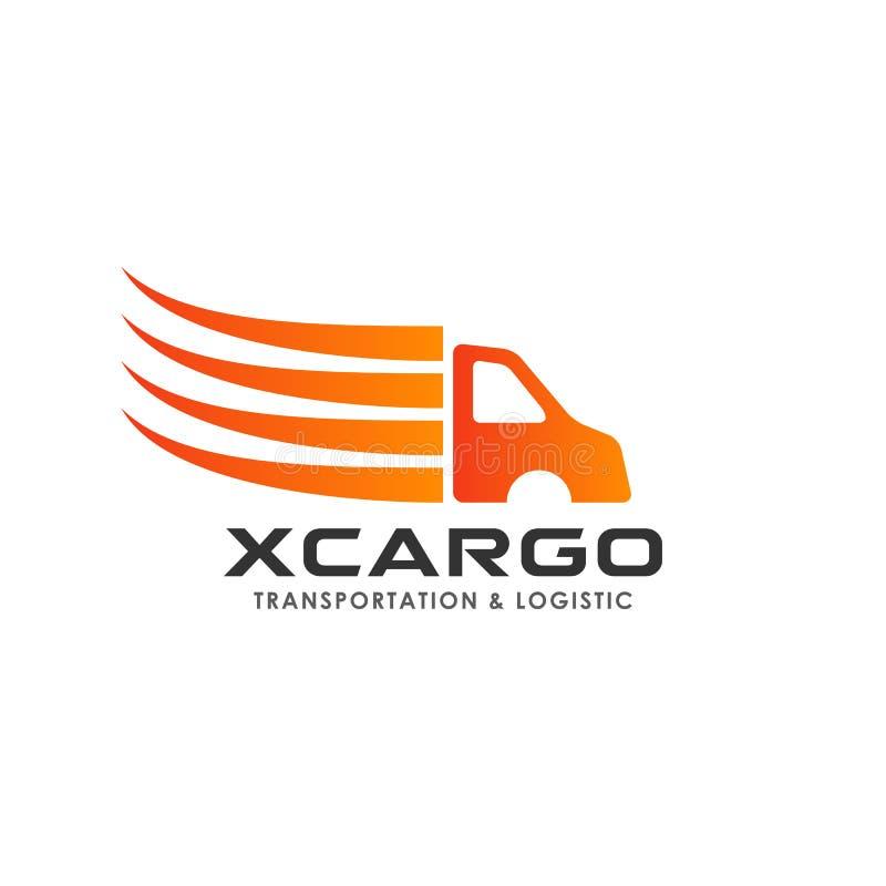 Cargo delivery services logo design. fast truck vector icon design. Cargo delivery services logo designs. fast truck vector icon design element stock illustration