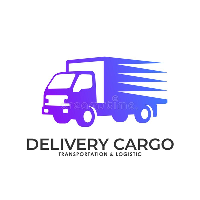 Cargo delivery services logo royalty free illustration