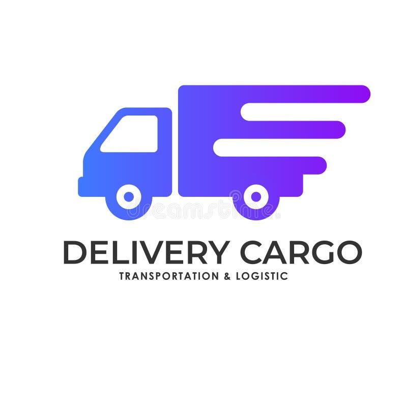 Cargo delivery services logo vector illustration