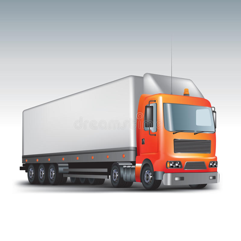 Cargo delivery truck vector illustration