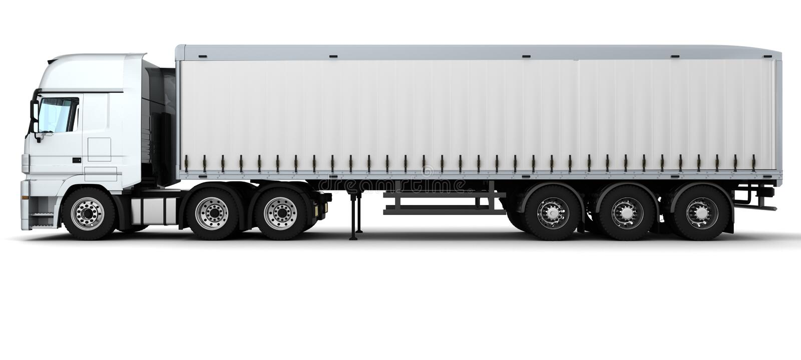 Cargo Delivery Vehicle stock illustration
