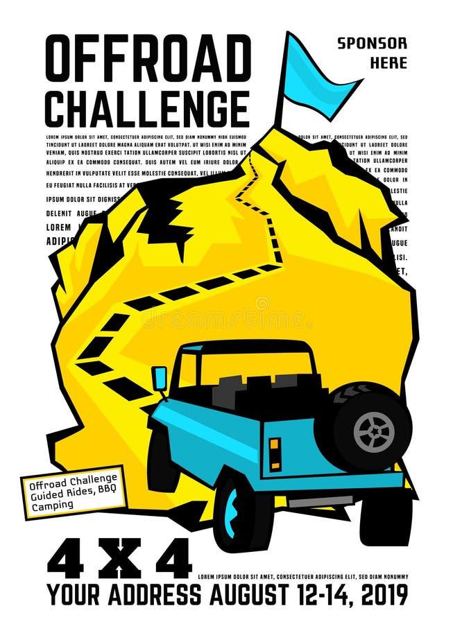 Cargo do evento do Motorsport ilustração stock