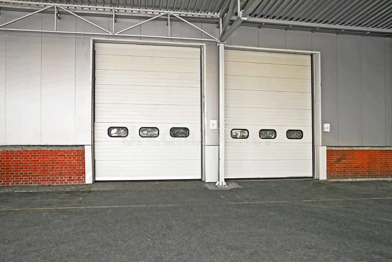 Cargo door stock photo