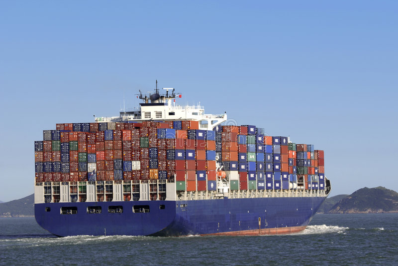 Cargo en Hong-Kong imagen de archivo libre de regalías