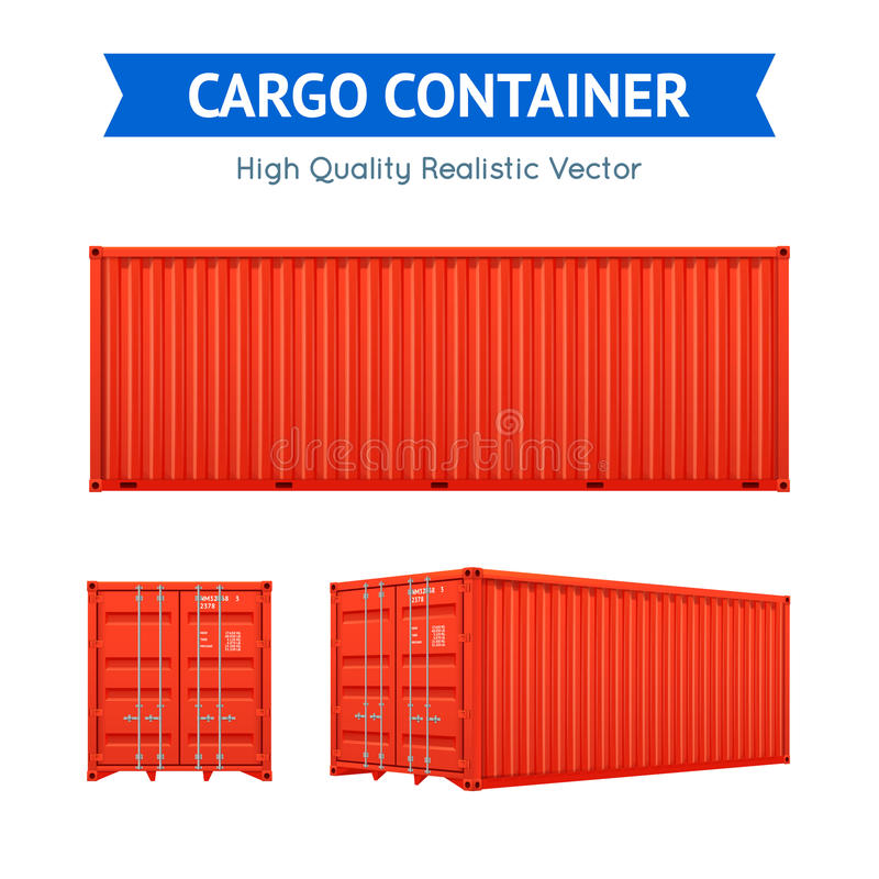 Cargo Freight Container vector illustration