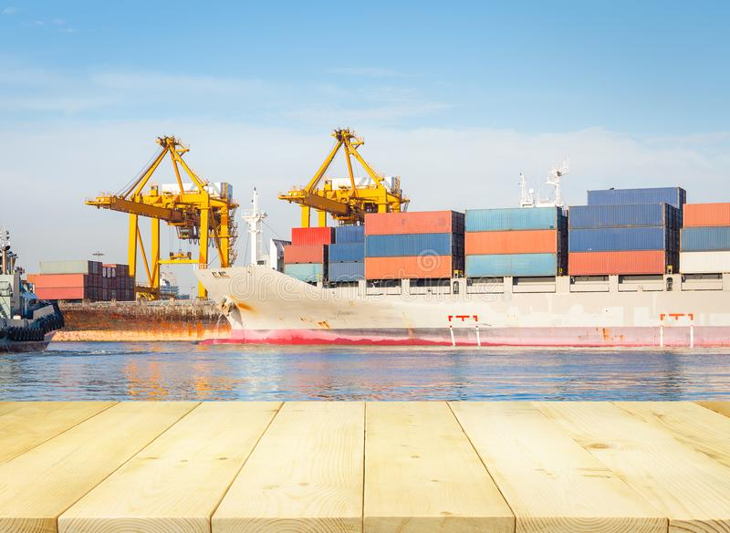 Cargo Ship Container royalty free stock image