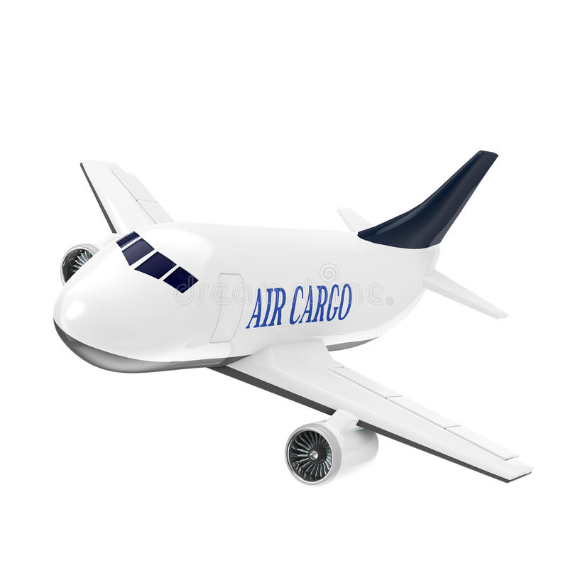 Cargo jet royalty free illustration