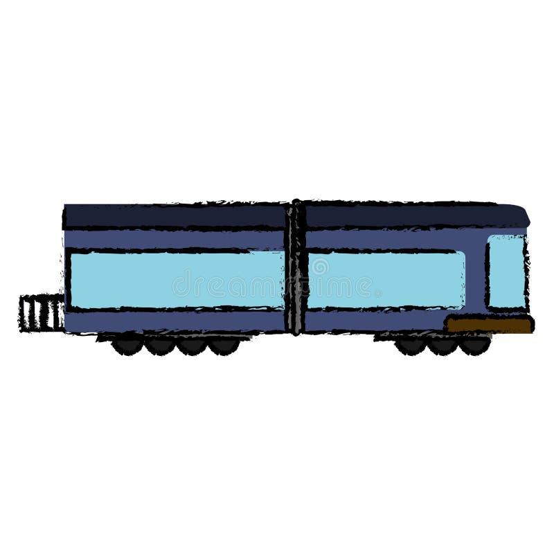 cargo locomotor del transporte del tren libre illustration