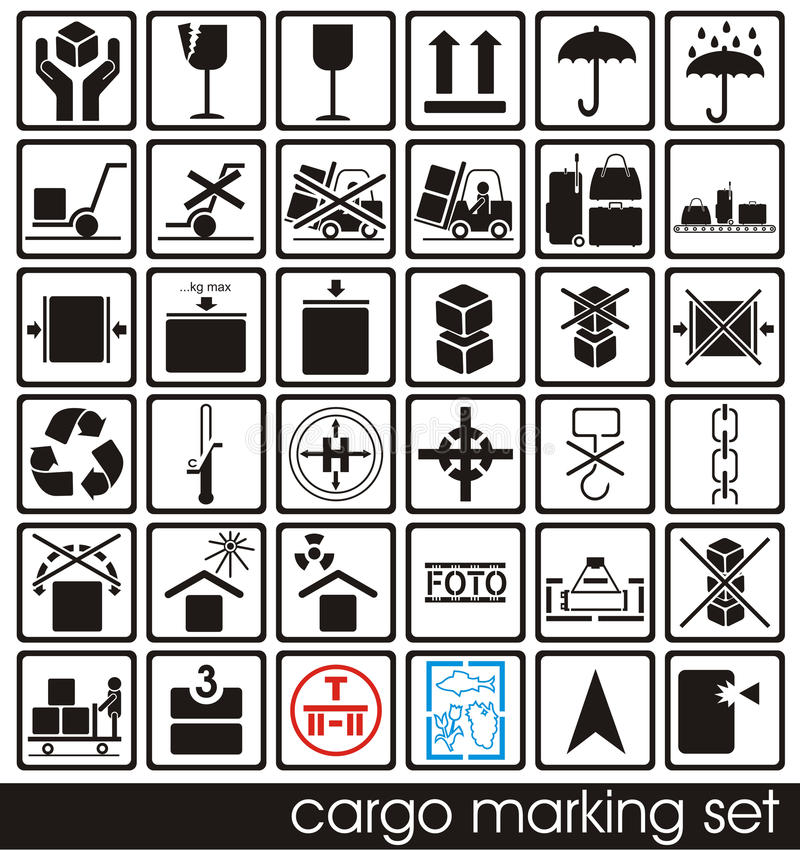 Download Cargo marking set stock vector. Image of stamp, safety - 22699278