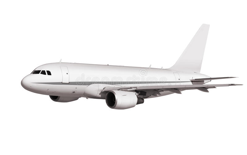Cargo plane. On white background with path stock photos