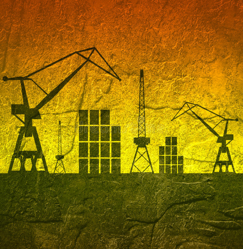 Cargo Port. Brochure Design Template. Stock Image - Image of icon ...