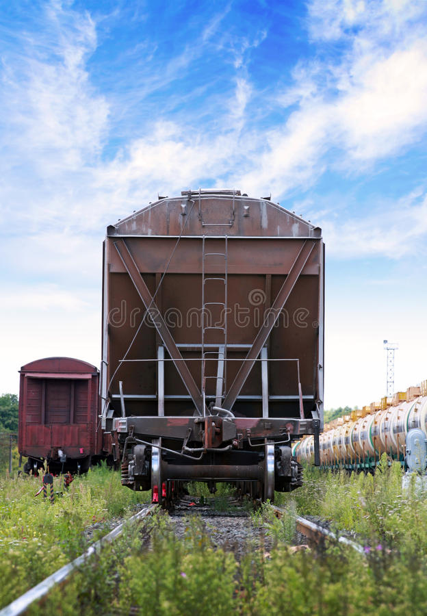 Cargo Railway Car Stands On Station Stock Image