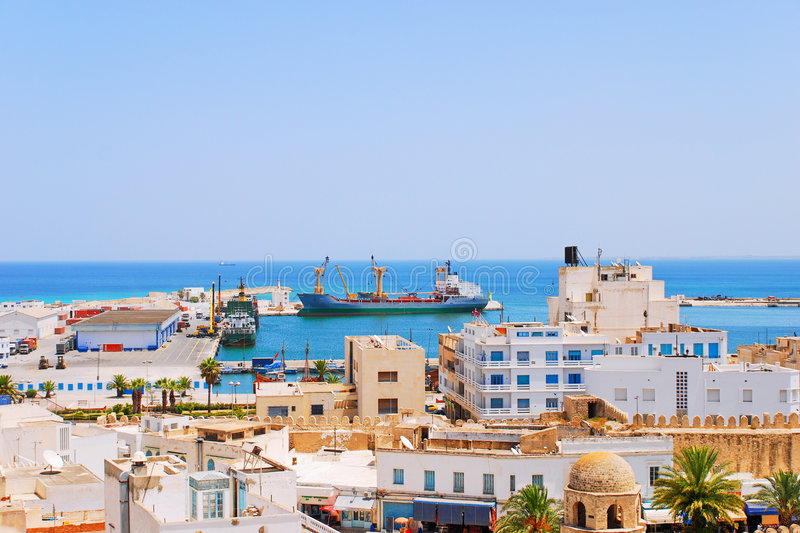 Download Cargo Seaport Of Sousse, Tunisia Stock Photo - Image of city, outdoors: 9213276
