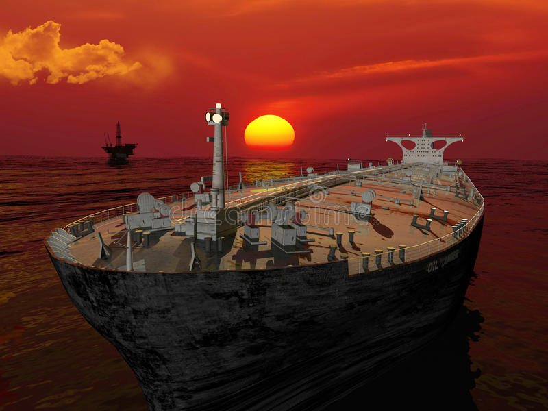 Download The cargo ship stock illustration. Image of boat, tank - 12223742