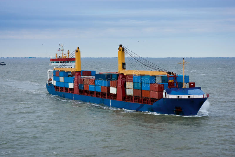 Download Cargo ship stock photo. Image of color, load, goods, international - 12861382