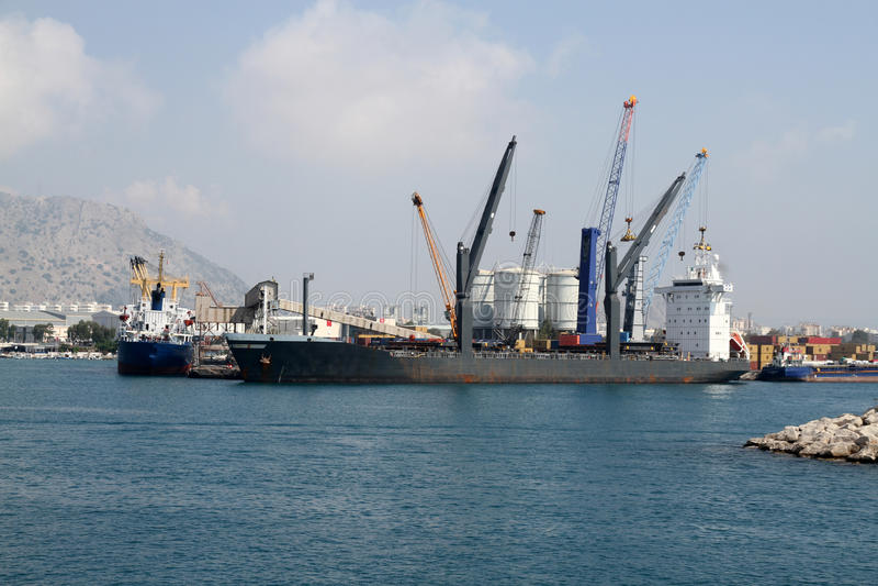 Download Cargo ship stock photo. Image of harbor, goods, drydock - 15196250