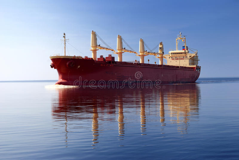 Download Cargo ship stock photo. Image of heavy, large, aerial - 15738638
