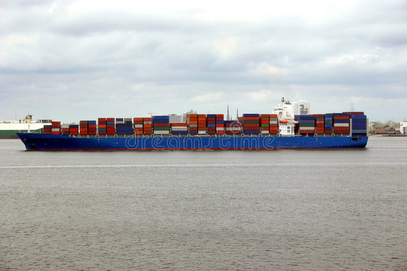Download Cargo Ship stock image. Image of channel, cargo, carrier - 1817883