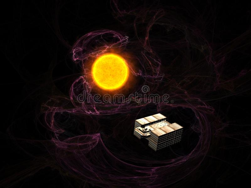 Download Cargo ship stock illustration. Image of cosmos, exploration - 18832990