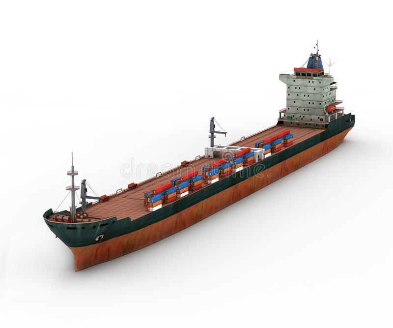 Download Cargo Ship stock illustration. Image of industry, transportation - 23701916