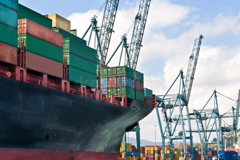 Download Cargo Ship stock photo. Image of logistics, boat, cranes - 25705022