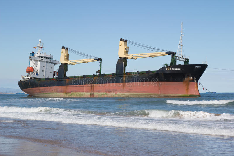 Download Cargo Ship editorial stock photo. Image of rust, brown - 26972138