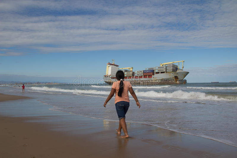 Download Cargo Ship editorial stock image. Image of drastic, rust - 27175549