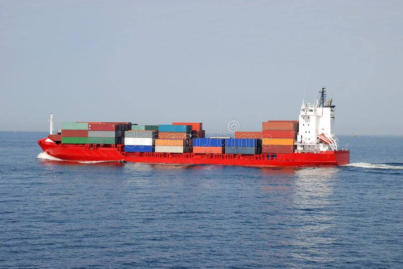 Download Cargo Ship stock image. Image of colorful, transaction - 5617047