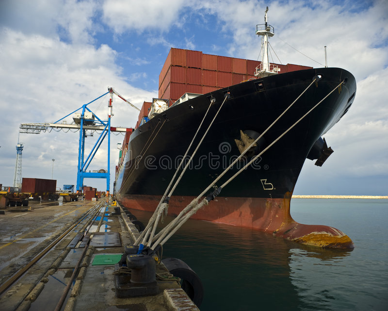 Download Cargo ship stock photo. Image of international, logistics - 8306242