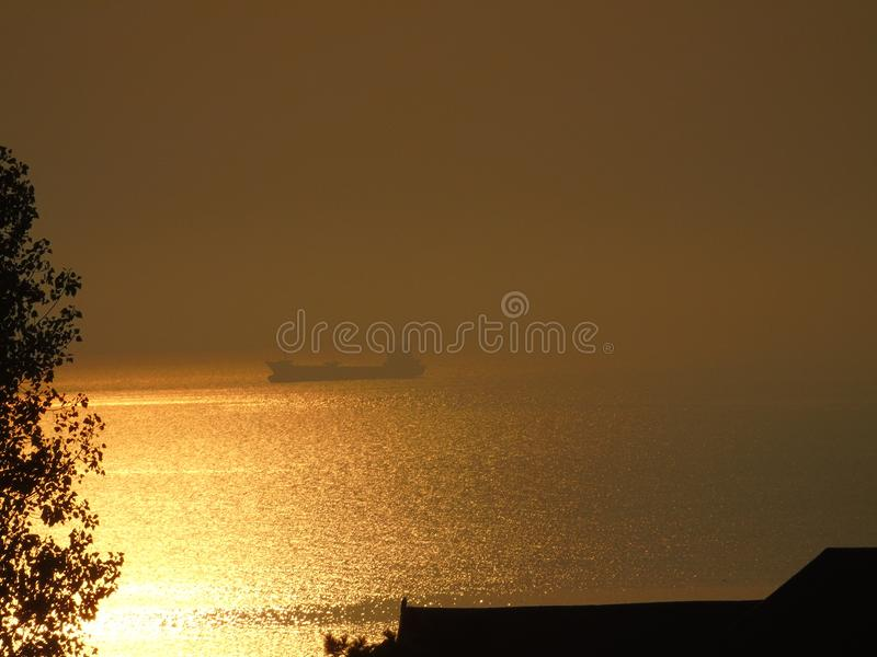 Ship on the black sea royalty free stock images
