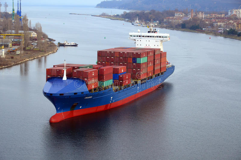 Cargo ship CALISTO stock photos