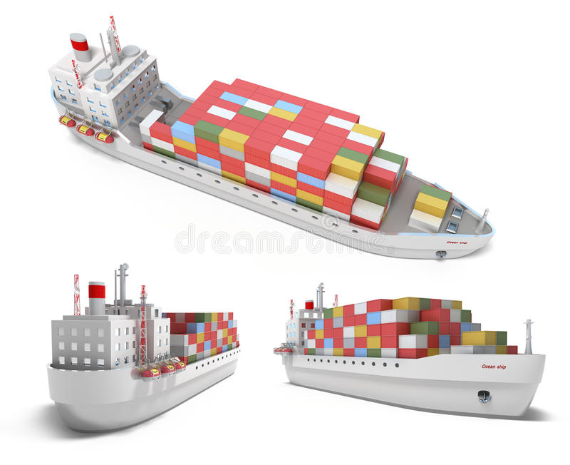 Download Cargo Ship With Containers Stock Images - Image: 17941824