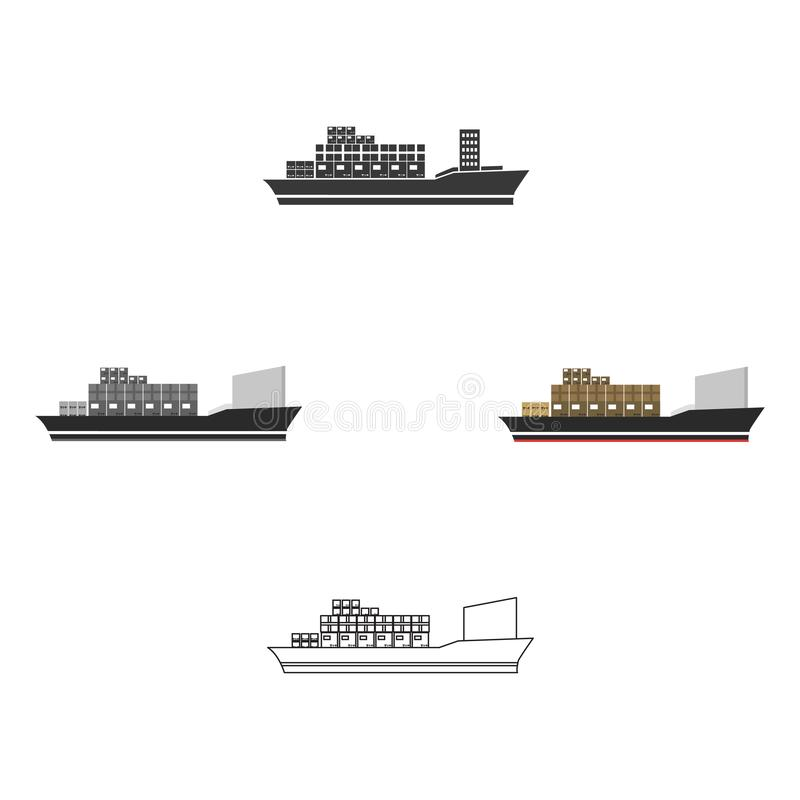 Cargo ship icon of vector illustration for web and mobile royalty free illustration