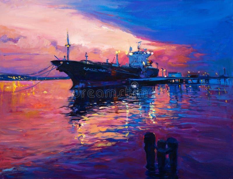 Cargo Ship vector illustration