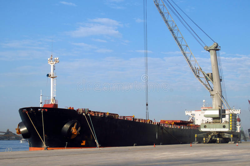Download Cargo ship at port stock photo. Image of transport, crane - 36361910