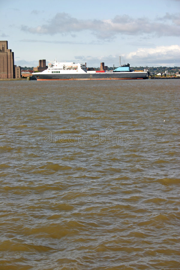 Download Cargo ship on the river stock image. Image of water, transport - 1366813