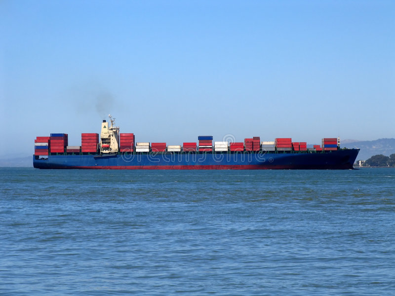 Cargo Ship in San Francisco Bay royalty free stock images