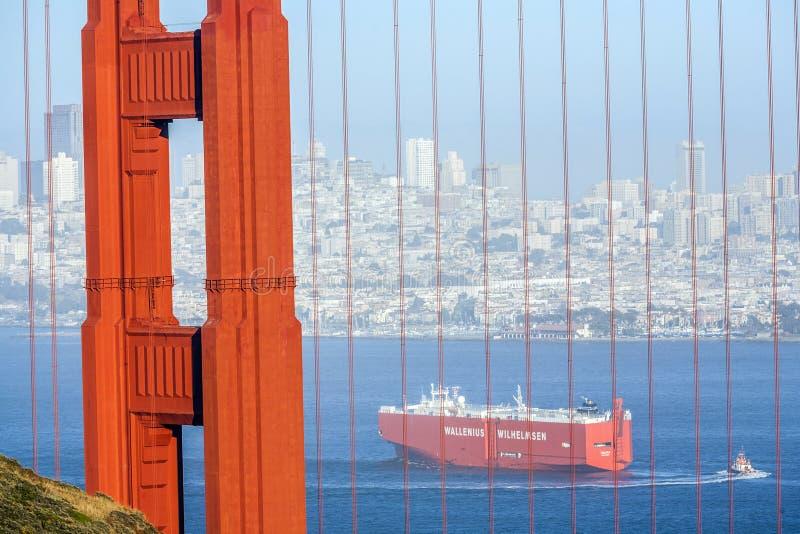 Cargo ship wallenius wilhelmsen stock images