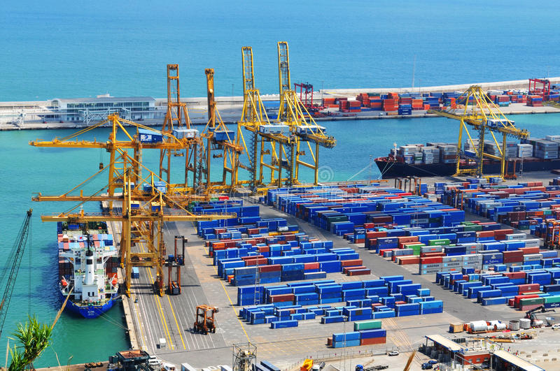 Cargo and shipping stock image