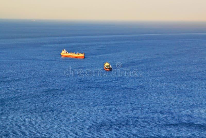 Cargo ships royalty free stock image