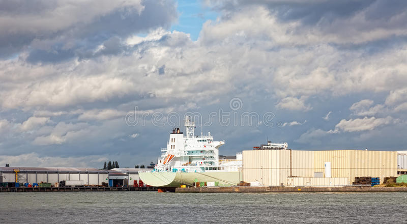 Download Cargo Ships In The Port Of Rotterdam Stock Photo - Image: 33231060