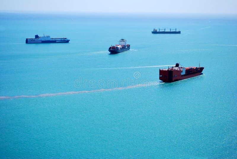 Cargo ships stock photos