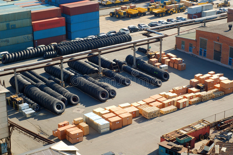 The cargo terminal stock photo