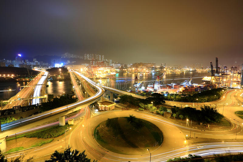 Cargo Terminal And Highways Stock Photography