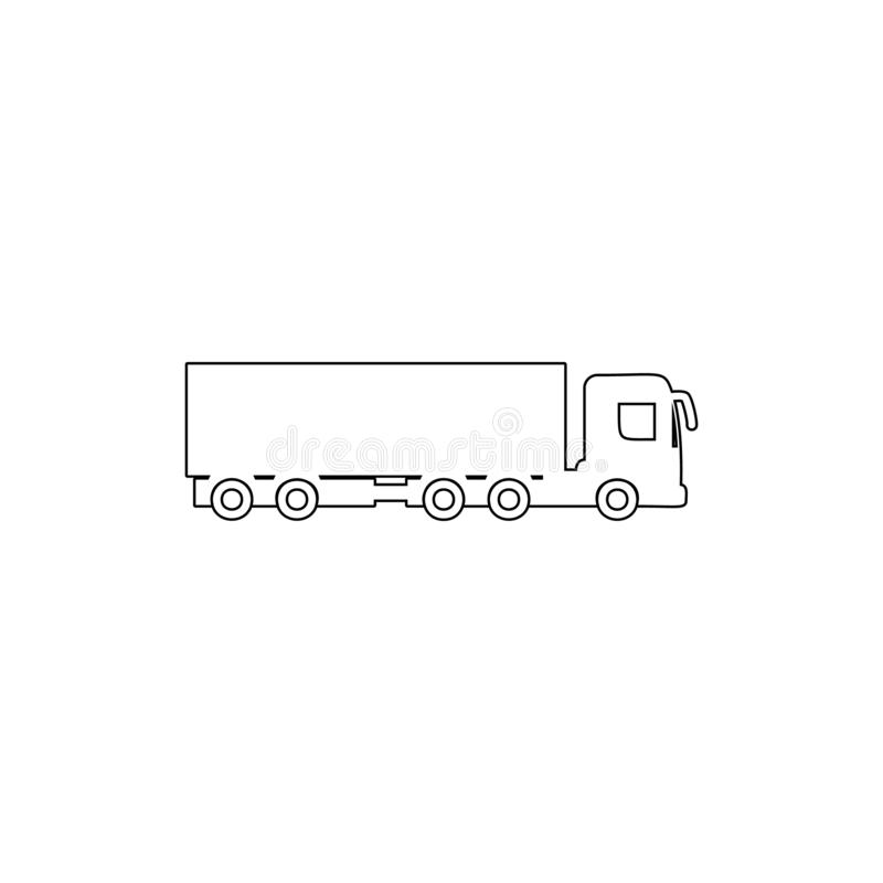 Cargo with a trailer outline icon. Element of car type icon. Premium quality graphic design icon. Signs and symbols collection. Icon for websites, web design royalty free illustration