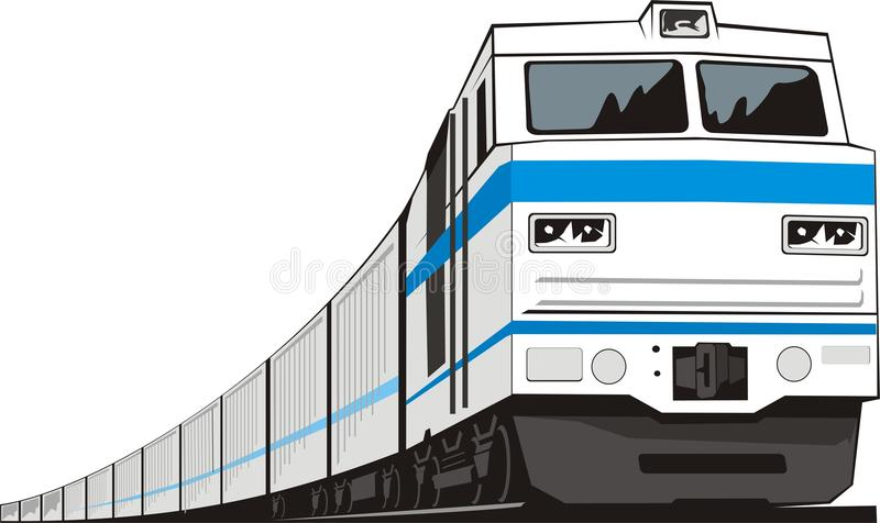 Download Cargo train stock vector. Image of circumnavigate, transportable - 15575101