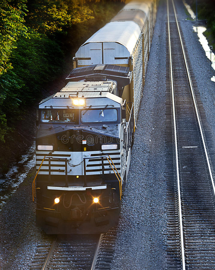 Download Cargo train stock photo. Image of industry, engine, rail - 25364186