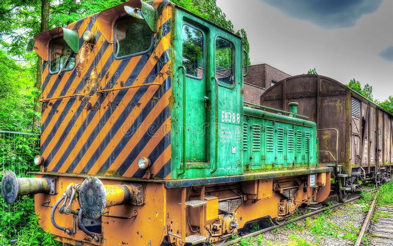 Cargo Train. The Image is created in Duisburg (Germany) LaPadu. HDR Technology royalty free stock photo