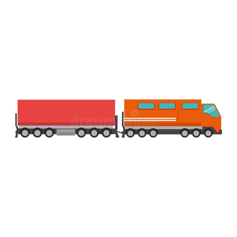 Cargo train logistic service royalty free illustration