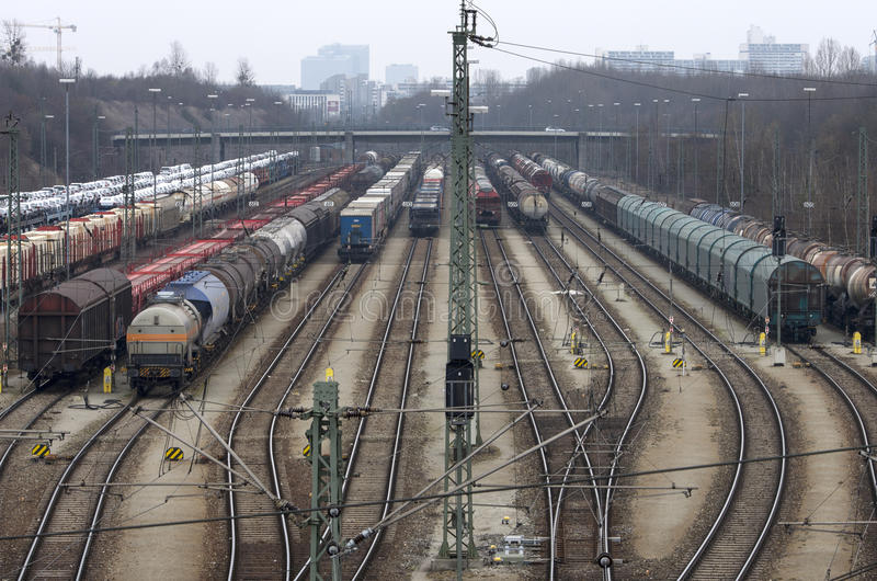 Cargo trains stock images
